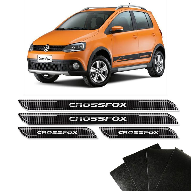 Kit Soleira Diamante Crossfox Cross Fox E Protetor De Porta