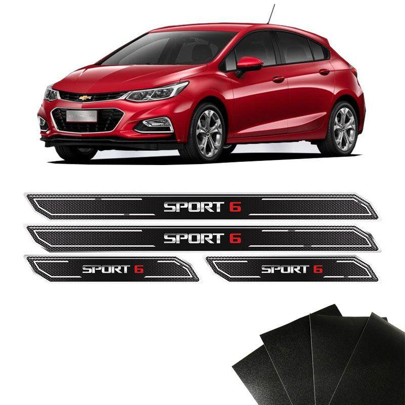 Kit Soleira Diamante Cruze Sport 6 Com Protetor De Porta