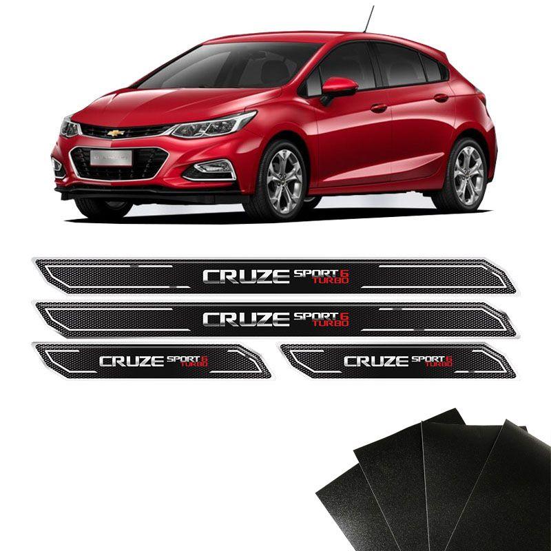 Kit Soleira Diamante Cruze Sport 6 Turbo E Protetor De Porta