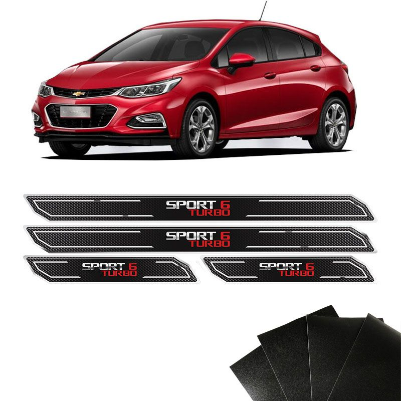 Kit Soleira Diamante Cruze Turbo Sport 6 E Protetor De Porta