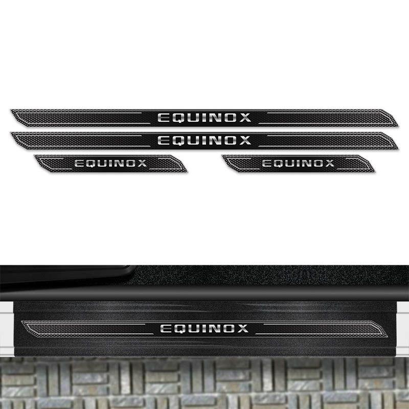Kit Soleira Diamante Equinox 2018/2019 Com Protetor Porta