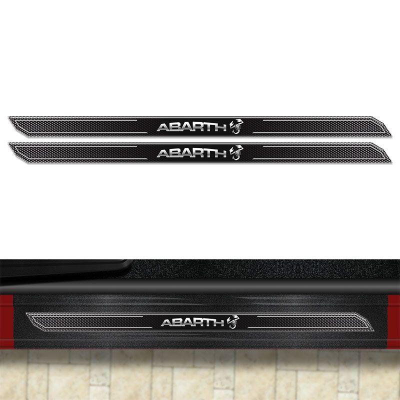 Kit Soleira Diamante Fiat 500 Abarth Com Protetor De Porta