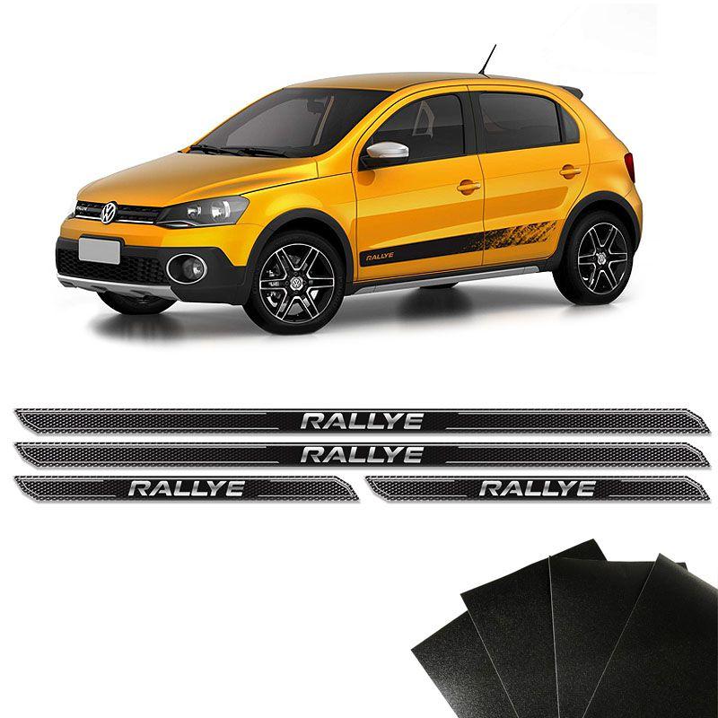 Kit Soleira Diamante Gol Rallye G4 G5 G6 E Protetor De Porta