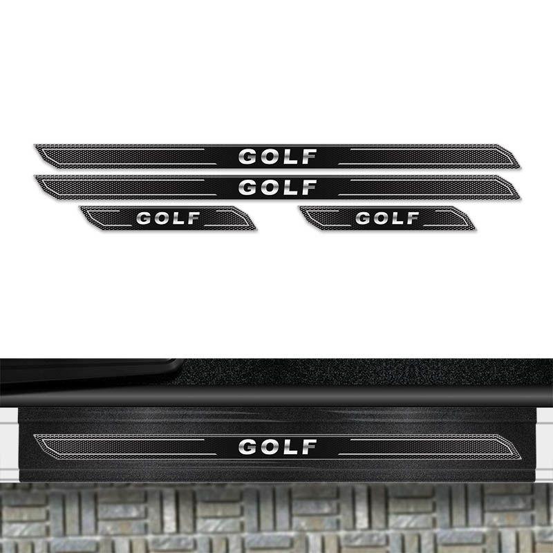 Kit Soleira Diamante Golf 2014 Até 2018 E Protetor De Porta