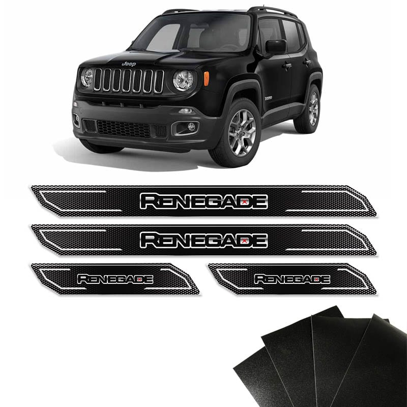 Kit Soleira Diamante Jeep Renegade 2016/2018 E Protetor de Porta