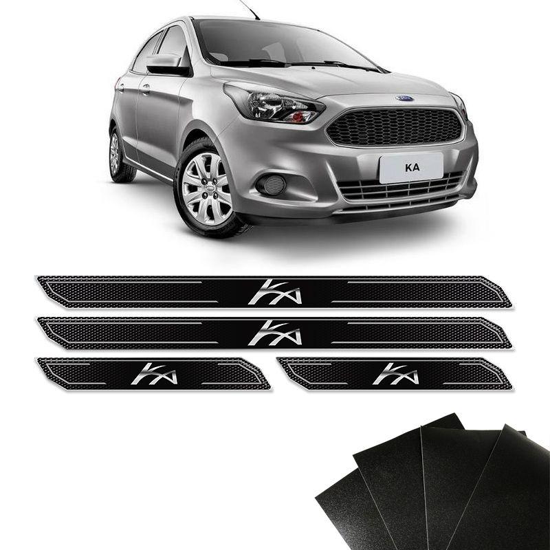 Kit Soleira Diamante Ka Novo Hatch Sedan E Protetor De Porta