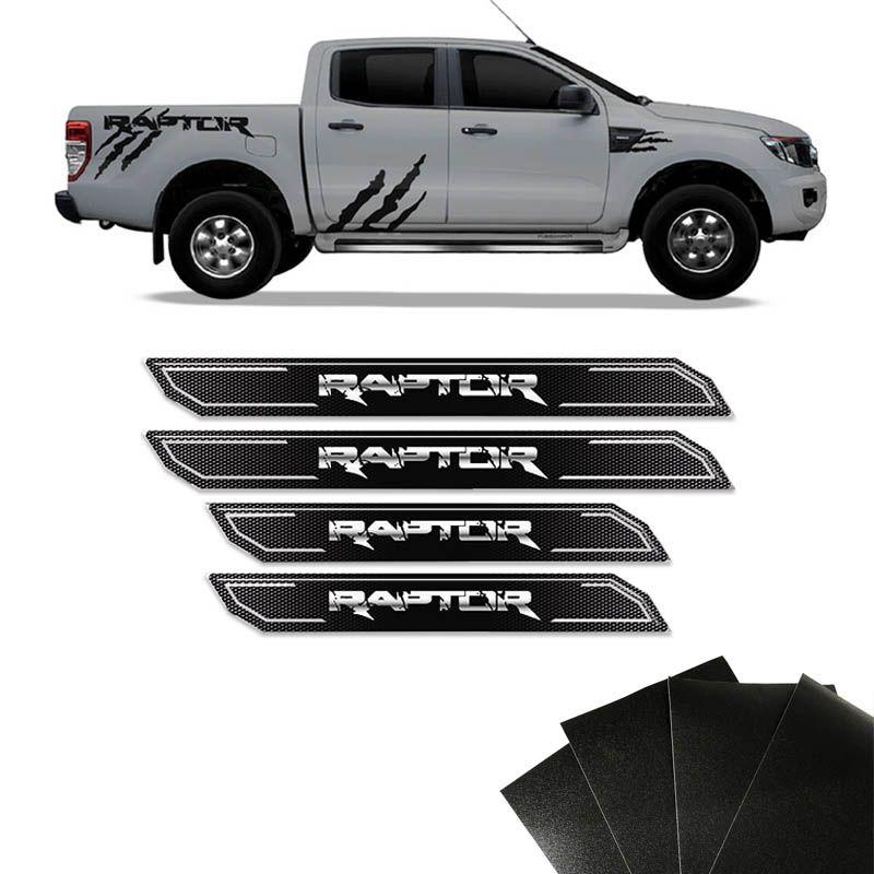 Kit Soleira Diamante Ranger Raptor 2013/2019 E Protetor de Porta