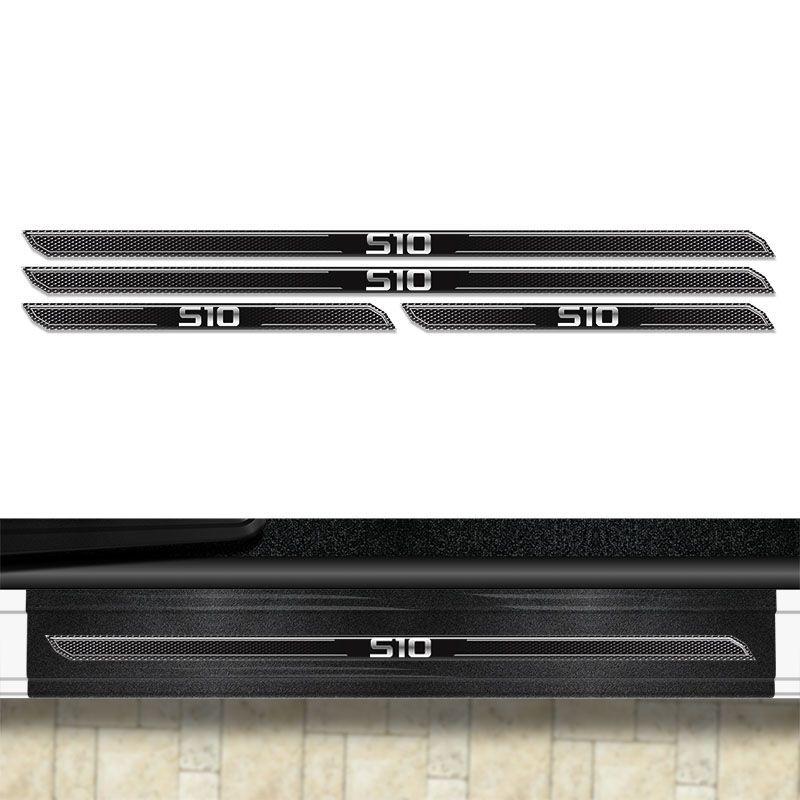 Kit Soleira Diamante S10 2012 À 2019 Com Protetor De Porta