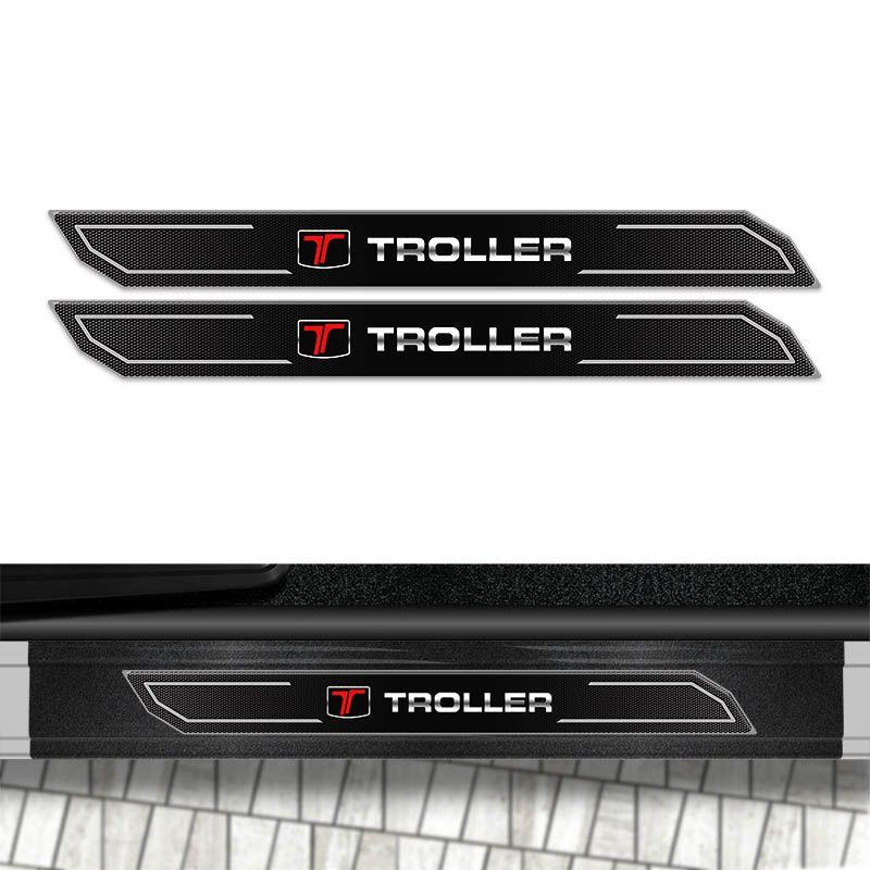 Kit Soleira Diamante Troller T4 2017 Com Protetor De Porta
