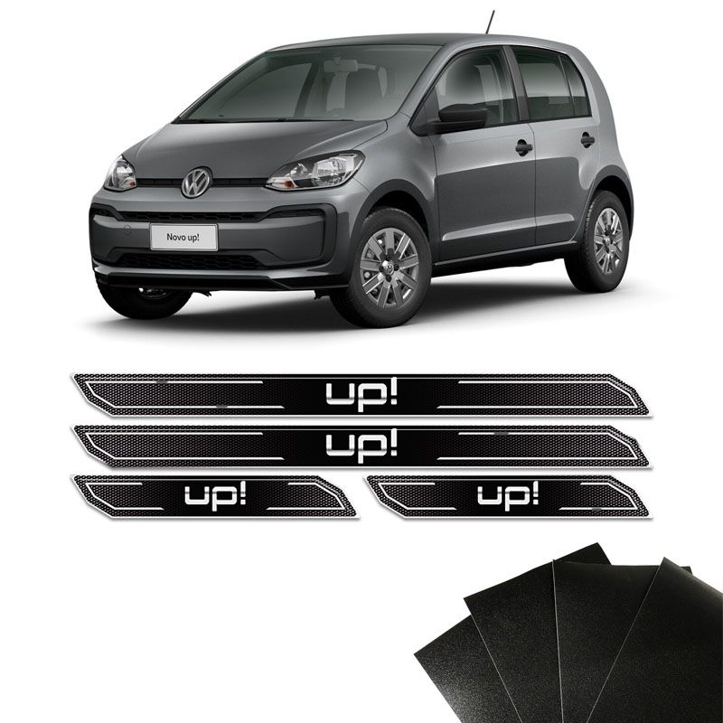 Kit Soleira Diamante Up! Volkswagen Com Protetor De Porta