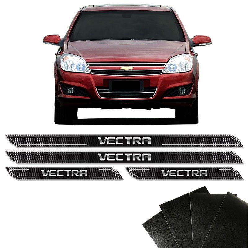 Kit Soleira Diamante Vectra 1998/2011 Com Protetor De Porta