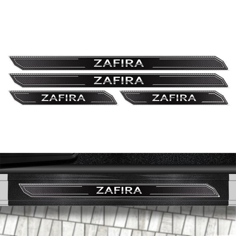 Kit Soleira Diamante Zafira 2001/2012 Com Protetor De Porta