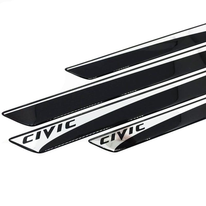 Kit Soleira New Civic 2007/2016 E Adesivo Protetor de Porta