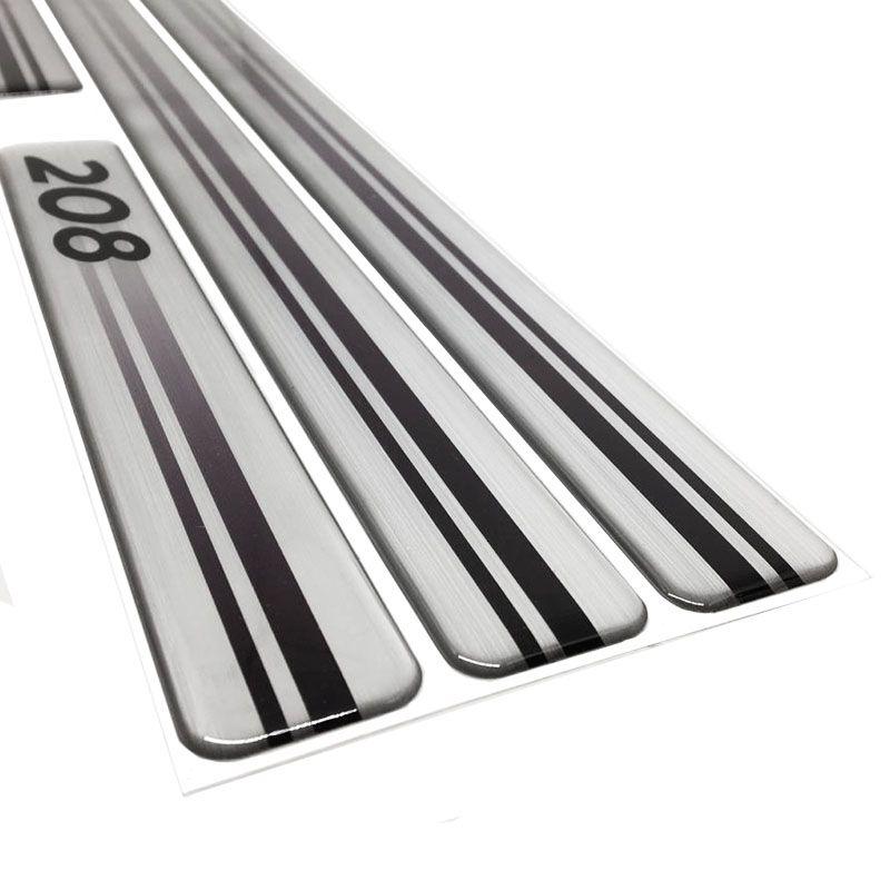 Kit Soleira Prata S10 Até 2011 Com Protetor De Porta