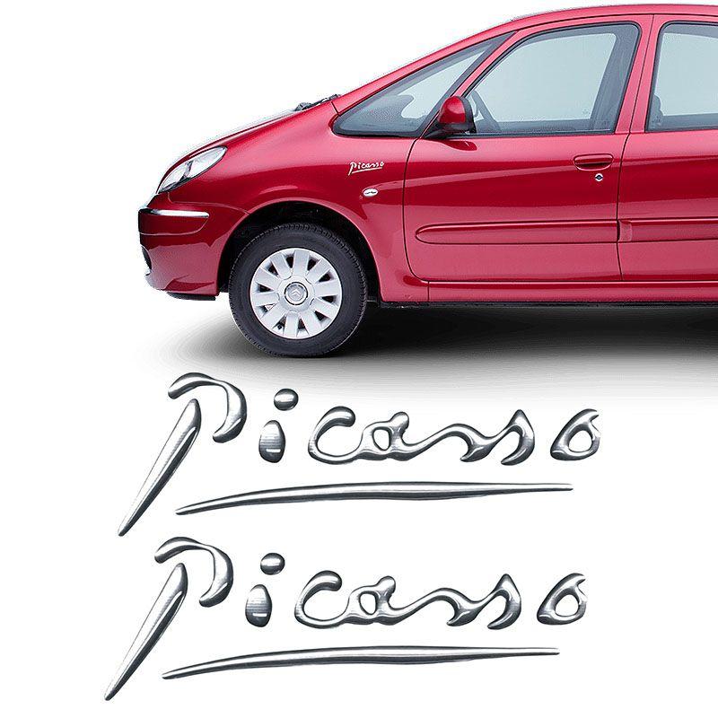 Par Adesivos Citroën Xsara Picasso Emblema Cromado Resinado