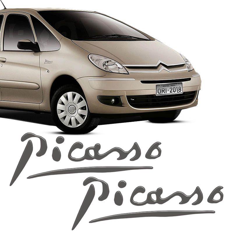 Par Adesivos Citroën Xsara Picasso Emblema Grafite Resinado