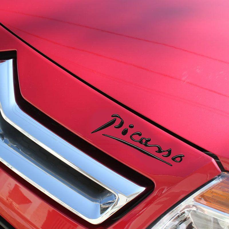 Par Adesivos Citroën Xsara Picasso Emblema Preto Resinado