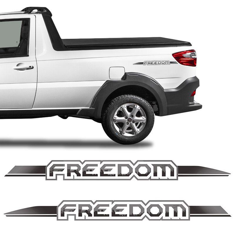 Par Adesivos Freedom Fiat Strada 2019/2020 Emblema Lateral