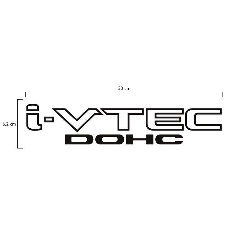 Kit Adesivos New Civic I-vtec Dohc Honda Si Emblema Preto