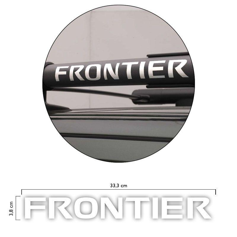 Par Adesivos Nissan Frontier 12/ Rack Teto Longarina Branco