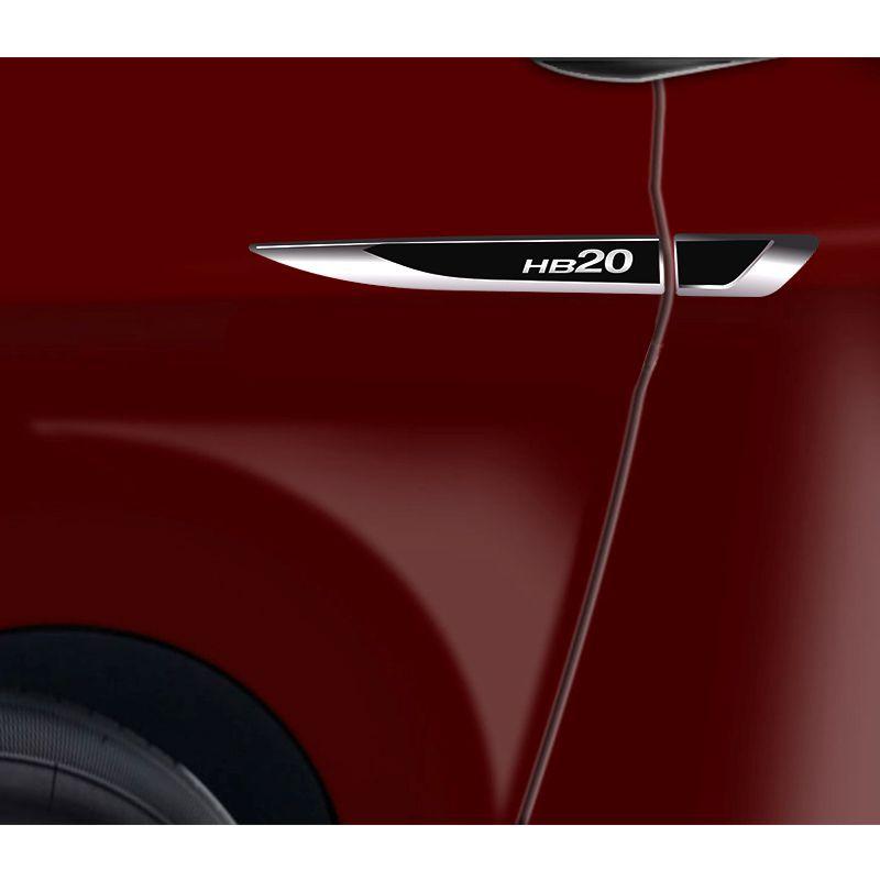 Par Aplique Lateral Hyundai Hb20 2013/2019 Emblema Resinado