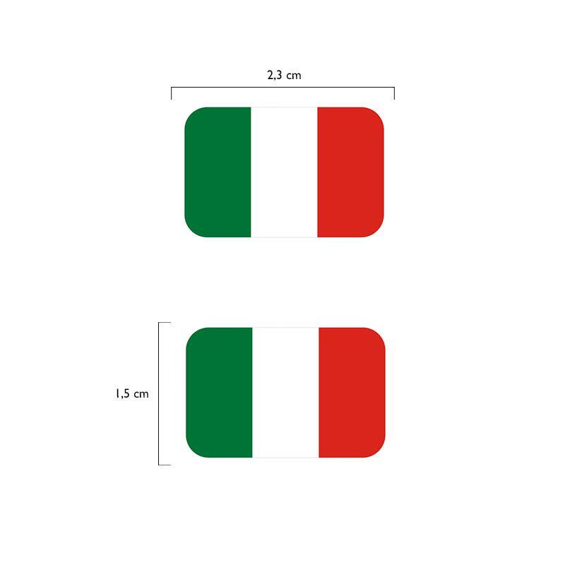 Par Bandeiras Itália Placa De Carro Moto Adesivas Resinadas
