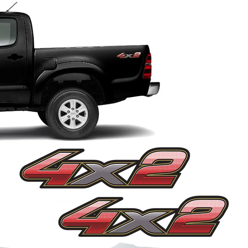 Par De Adesivos 4x2 Toyota Hilux 2009 2010 2011 2012