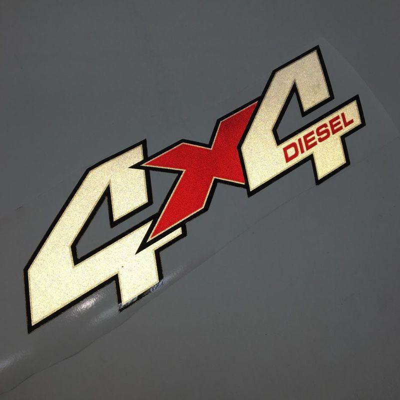 Par De Adesivos 4x4 Diesel Troller 2009/11 Emblema Refletivo