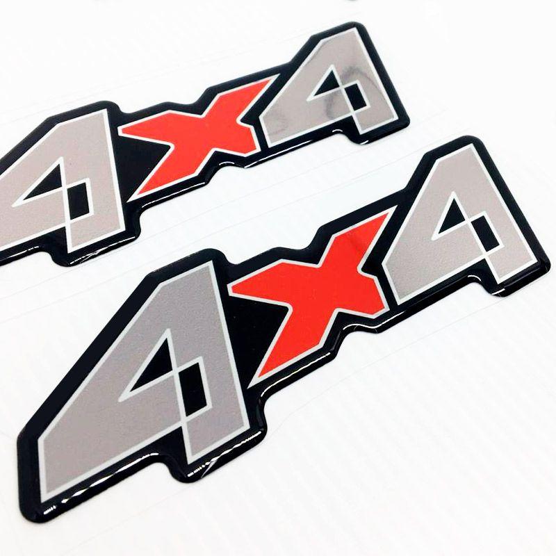 Par de Adesivos 4x4 F-4000 Ford Para - Lama Caminhão Resinado
