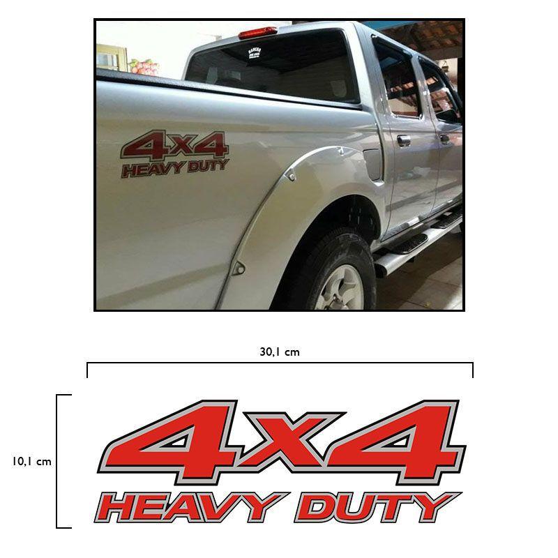Par De Adesivos 4x4 Heavy Duty Nissan Frontier Até 2008