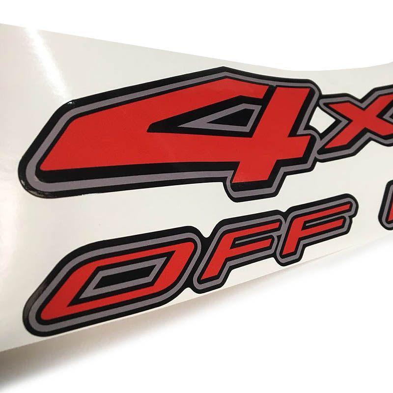 Par De Adesivos 4x4 Off Road Nissan Frontier Borda Cinza