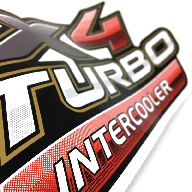 Par de Adesivos 4x4 Turbo Intercooler Hilux 2009 a 2012