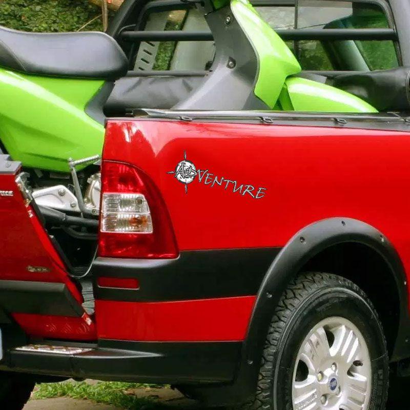 Par De Adesivos Adventure Fiat Strada Palio Doblo 2005