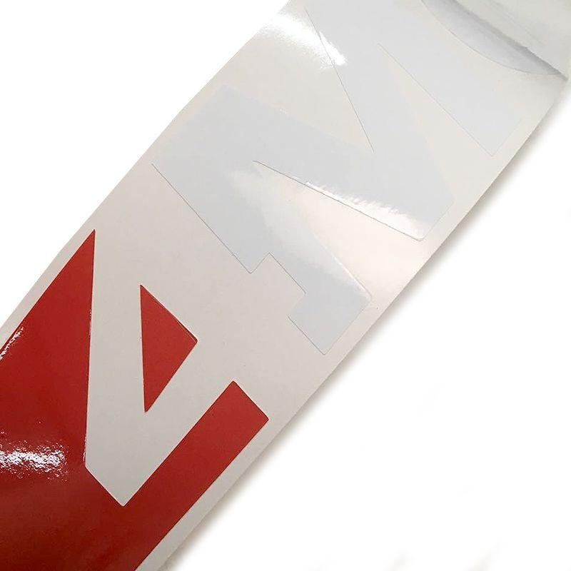 Par de Adesivos Amarok 4 Motion 2017 Emblema Lateral Branco