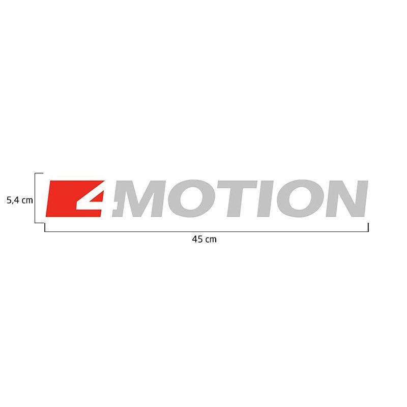 Par de Adesivos Amarok 4 Motion 2017 Emblema Lateral Prata