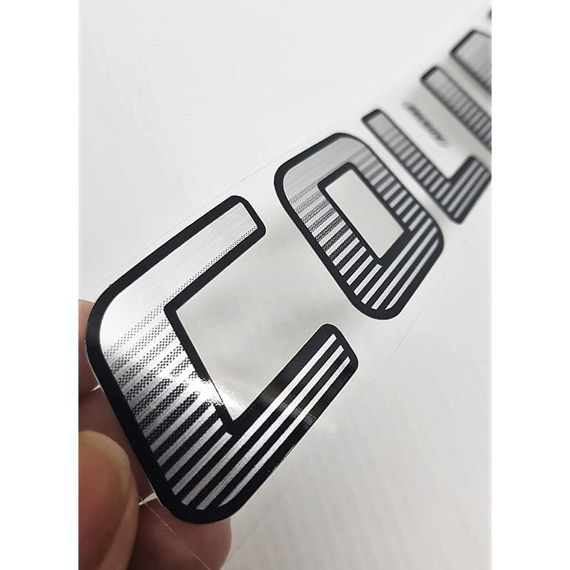 Par de Adesivos Colina S10 Emblema Porta Lateral