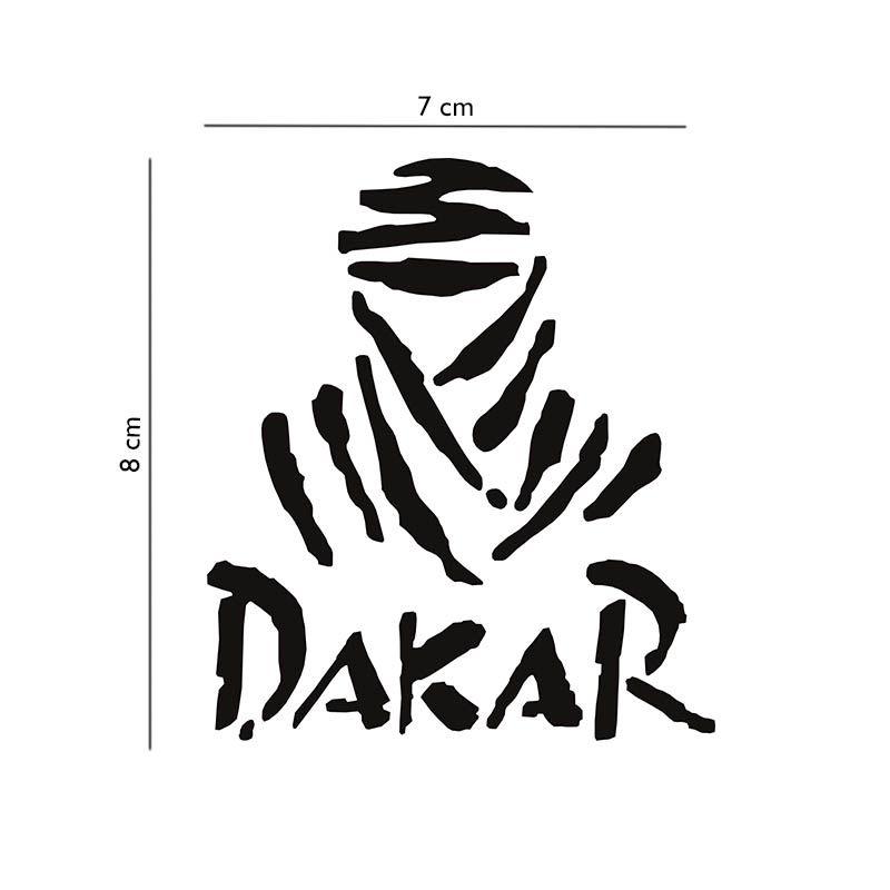 Par de Adesivos Dakar Rally Trilha Emblema Decorativo Carro
