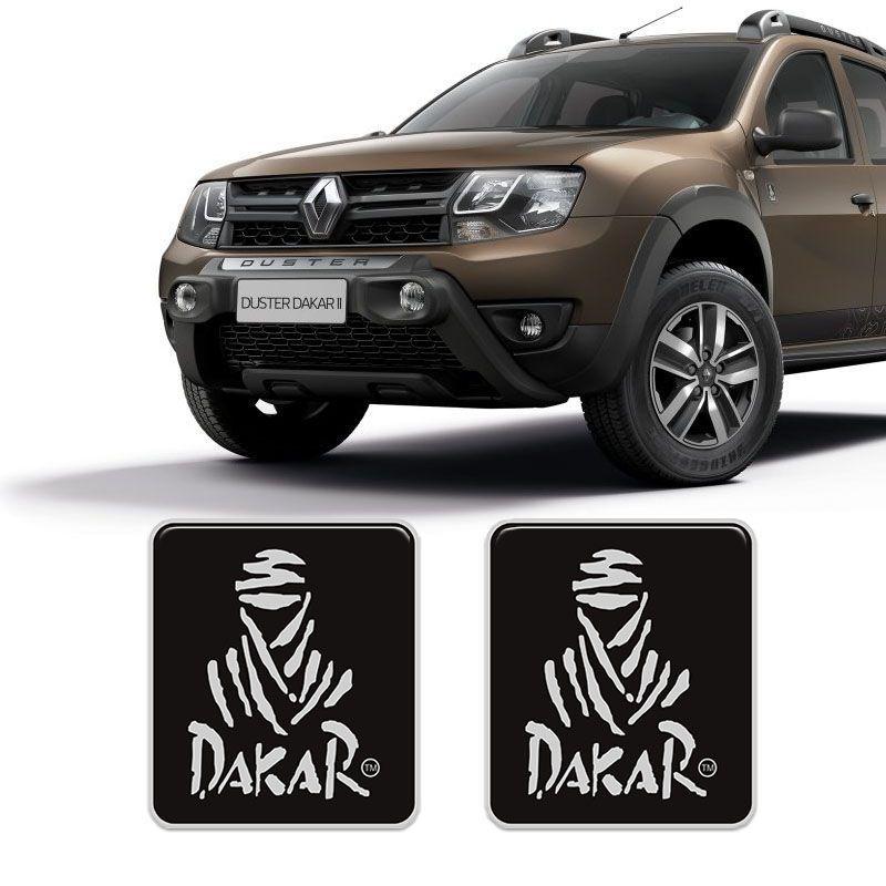 Par De Adesivos Duster Dakar Spirit Emblema Lateral Resinado