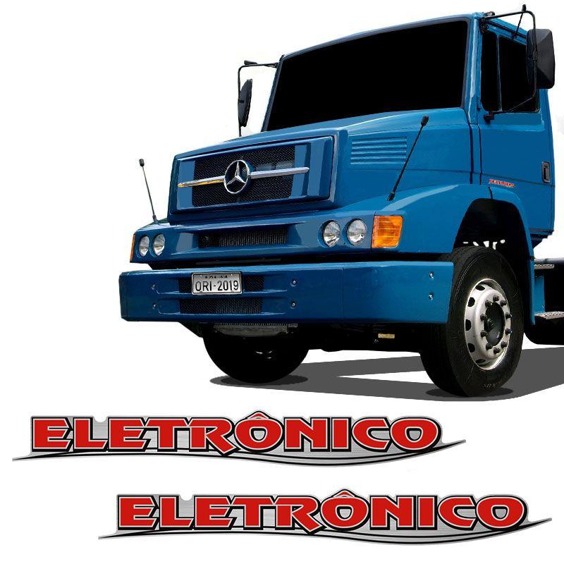 Par De Adesivos Eletrônico Mercedes Benz Emblemas Resinados