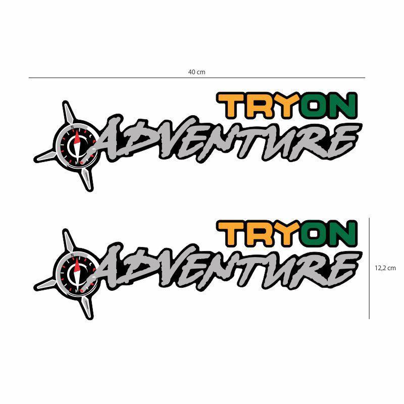Par de Adesivos Emblema Tryon Adventure Strada Grande