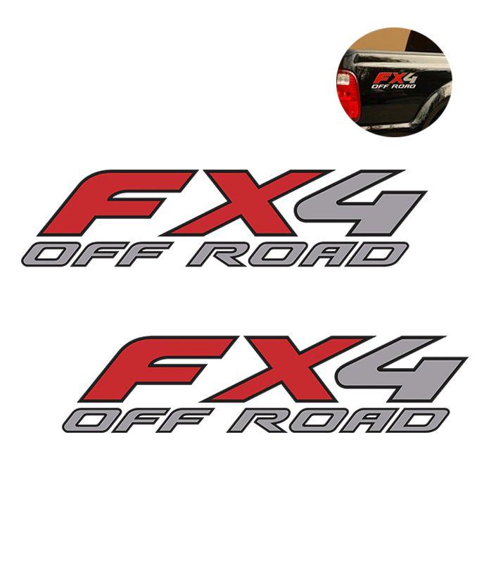 Par de Adesivos Laterais Fx4 Off Road F-250 Importada Ford