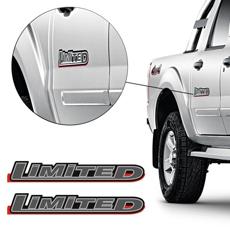 Par Adesivos Ranger 10/12 Limited Emblema Lateral Grafite