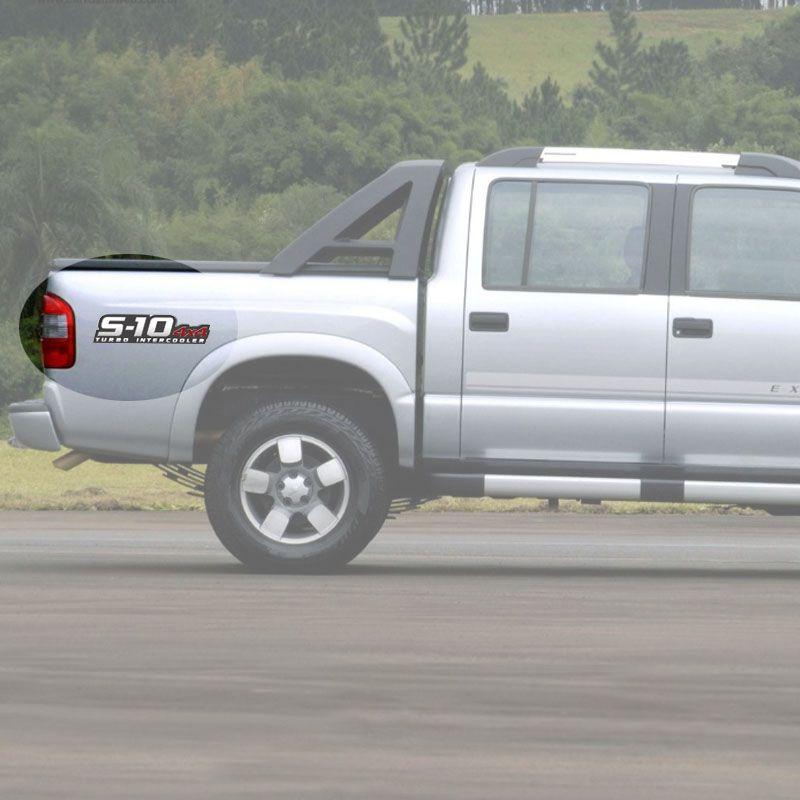 Par De Adesivos S10 2009/2011 Turbo Intercooler 4x4 Vermelho
