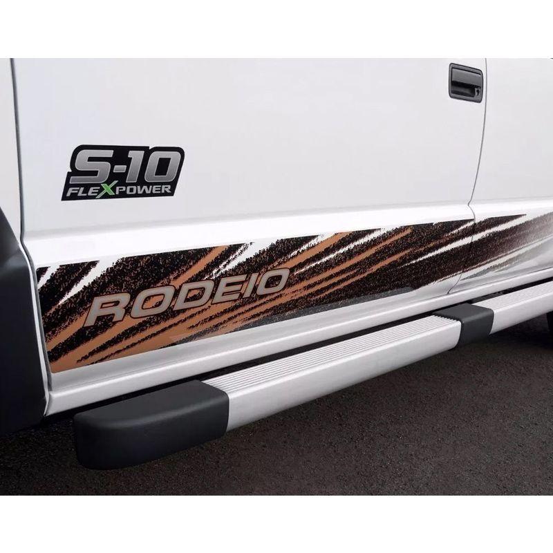 Par de Adesivos S10 Rodeio Flex Power Verde Emblema (Porta)