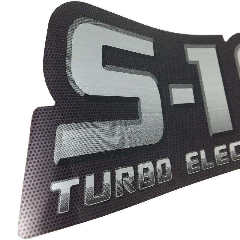 Par De Adesivos S10 Turbo Electronic Emblema 2009 2010 2011