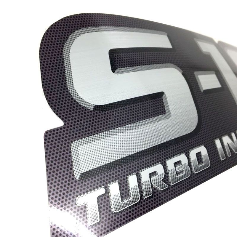Par De Adesivos S10 Turbo Intercooler Emblema 2009 10 11