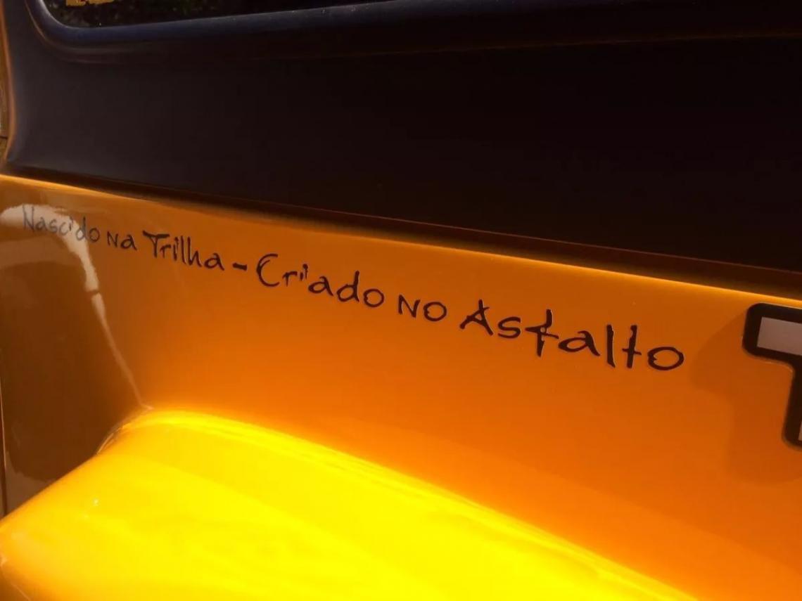 Par de Adesivos Troller 2005 Nascido Na Trilha Preto Lateral