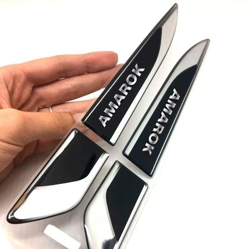 Par De Aplique Lateral Amarok 2011/2019 Emblema Resinado