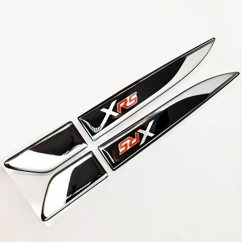 Par De Aplique Lateral Toyota Corolla Xrs Emblema Resinado