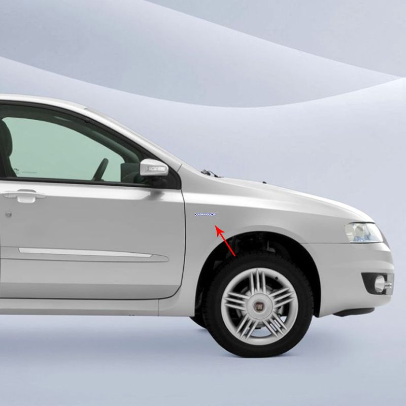 Par de Emblemas Adesivo Fiat Stilo Connect Resinado